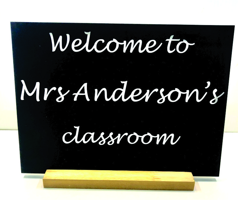PERSONALISED CHALKBOARD CLASSROOM PLAQUE