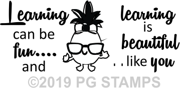 PINEAPPLE 4 - Motivational self inking teacher stamp