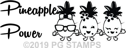 PINEAPPLE 5 - Motivational self inking teacher stamp