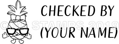 PINEAPPLE 7 - Customised self inking teacher stamp