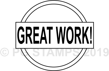 CIRCULAR 11 - Great Work stamp.