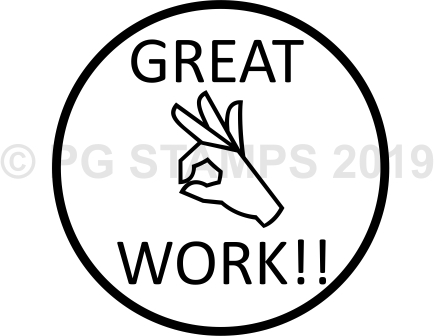 CIRCULAR 13 - Great work stamp