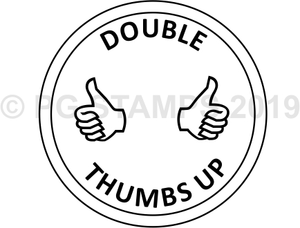 CIRCULAR 15 - Double thumbs up stamp