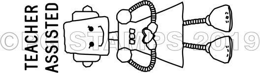ROBOT 4 - Self inking Robot teacher stamp
