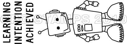 ROBOT 6 - Self inking Robot teacher stamp