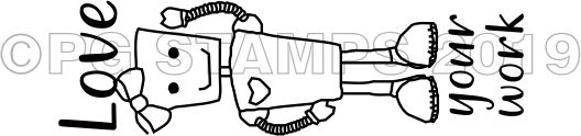 ROBOT 7 - Self inking Robot teacher stamp