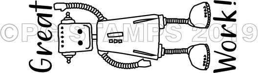 ROBOT 8 - Self inking Robot teacher stamp