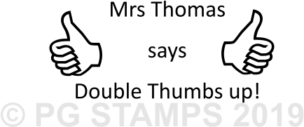 NT 25 - Double thumbs up stamp