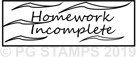 NT 5 - Homework incomplete teacher stamp