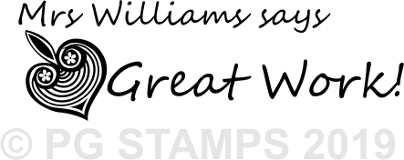 NT 9 - Customised Great Work teacher stamp