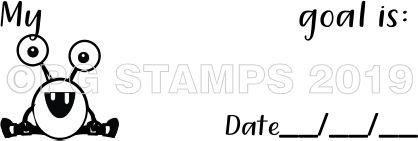 MONSTER 49 - Goal setting teacher stamp