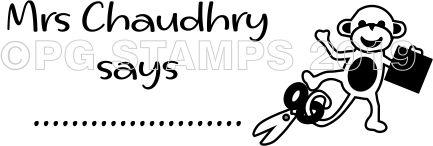 MONKEY 2 - Customised self inking teacher stamp