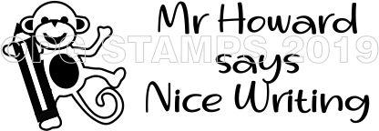 MONKEY 3 - Customised self inking teacher stamp