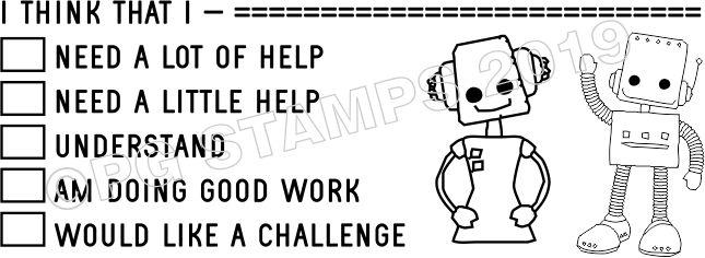 ROBOT 22 - Customised Self inking checkbox teacher stamp
