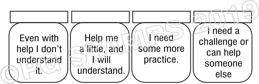 SELF ASSESSMENT 16 - checkbox teacher stamp