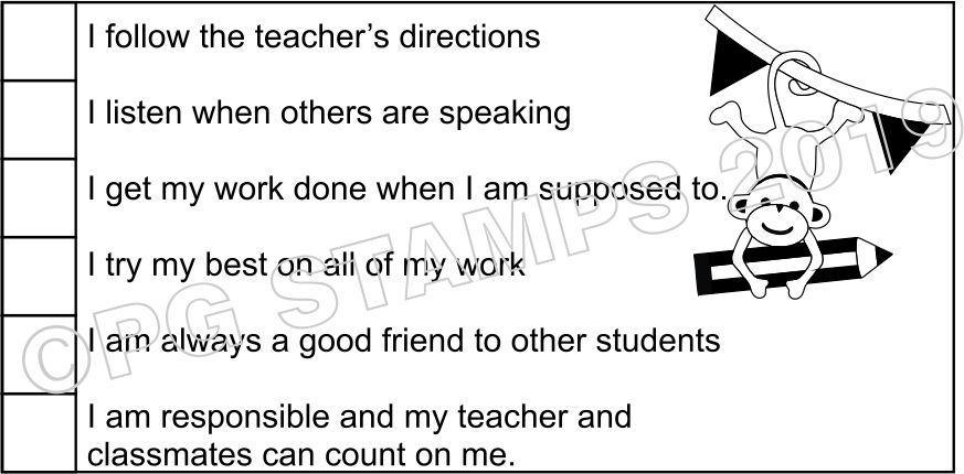 SELF ASSESSMENT 17 - Checkbox teacher stamp