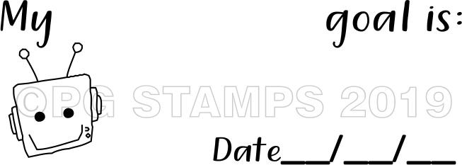 ROBOT 24 - Self inking goal setting teacher stamp