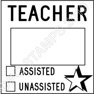 SQUARE DATER 3 - TEACHER ASSISTANCE STAMP