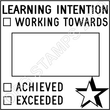SQUARE DATER 6 - LEARNING INTENTION STAMP