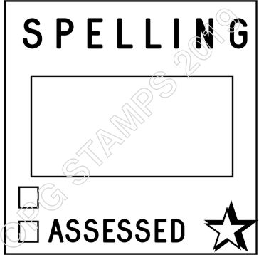 SQUARE DATER 7 - SPELLING ASSESSMENT STAMP