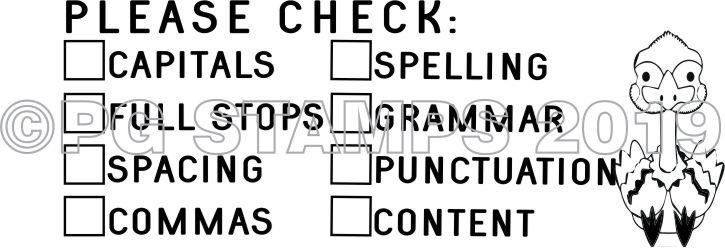 AUSTRALIANA 4 - Double column Writing Checklist - checkbox stamp
