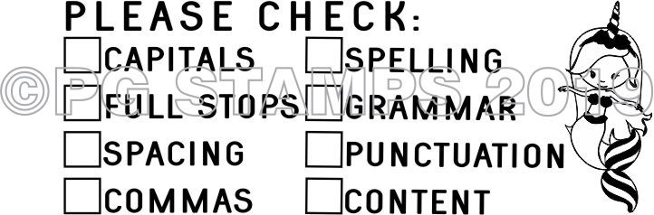 MERMAID 7 - Double column Writing Checklist - checkbox stamp