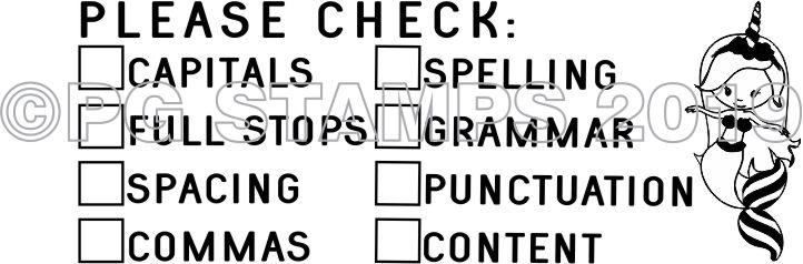 MERMAID 7 - Double column Writing Checklist - checkbox stamp