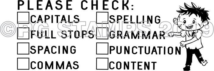 ZOMBIE 6 - Double column Writing Checklist - checkbox stamp