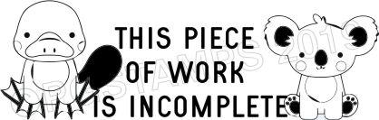 AUSTRALIANA 1 - Incomplete work teacher stamp