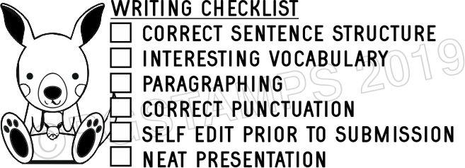 AUSTRALIANA 2 - Writing Checklist checkbox stamp