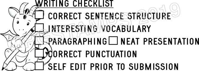 DRAGON 2 - Writing Checklist checkbox stamp