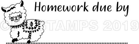 LLAMA 3 - Homework Due teacher stamp
