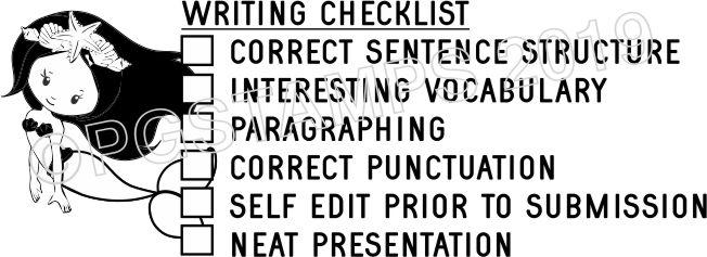 MERMAID 2 - Writing Checklist checkbox stamp
