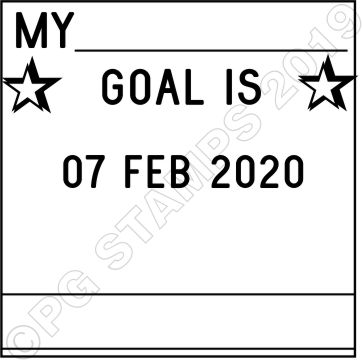 SQUARE DATER 10 - Goal setting dater stamp.