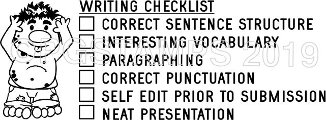 TROLL 3 - Writing Checklist checkbox stamp