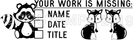 "WOODLAND 1 - Writing ""Missing Information"" checkbox stamp"