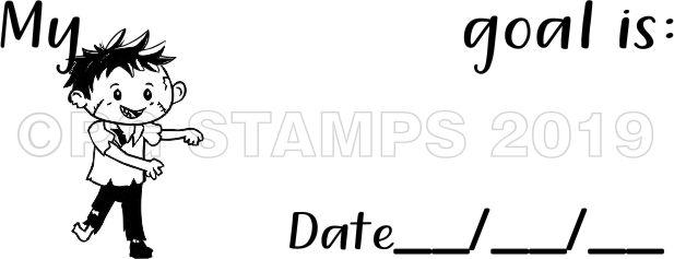 ZOMBIE 4 - Goal Setting teacher stamp