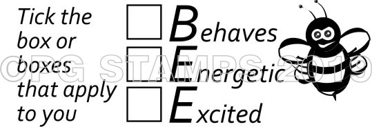 BEE 11 - Self inking self assessment teacher stamp