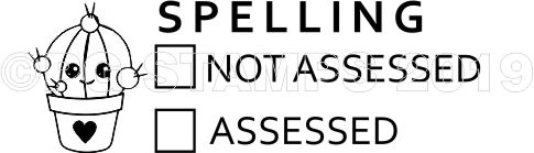 CACTUS 11 - Spelling assessed checkbox stamp