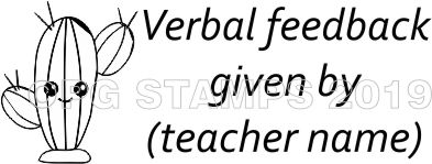 CACTUS 4 - Customised Verbal Feedback teacher stamp