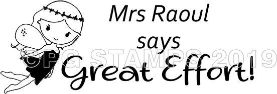FAIRY 10 - Customised motivational teacher stamp