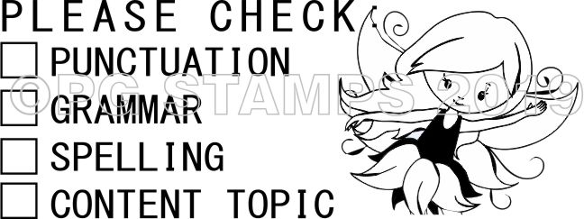 FAIRY 19 - Customised checkbox teacher stamp