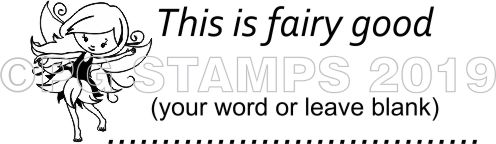 FAIRY 22 -  Customised self inking teacher stamp