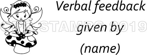 FAIRY 23 - Verbal Feedback teacher stamp