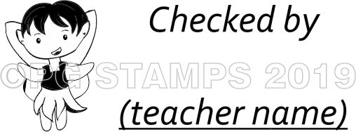 FAIRY 8 - Customised Checked By teacher stamp