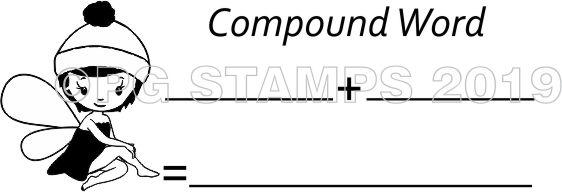 FAIRY 9 - Self inking Compound Word teacher stamp