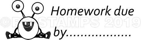 MONSTER 50 - Homework due by teacher stamp