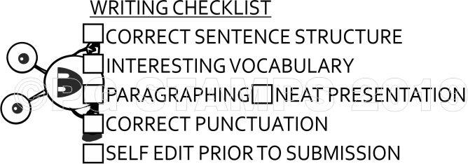 MONSTER 52 - Writing checklist teacher stamp