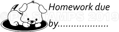 PUPPY 22 - Homework due teacher stamp