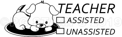 PUPPY 8 - Self inking checkbox teacher stamp